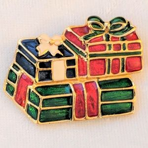 Jewelry - Vintage Christmas Presents Brooch Gifts Pin